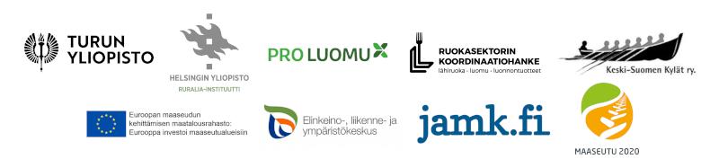 Aitoja makuja ja aitoa yhteistyötä -seminaari 11.12.2018 / logot