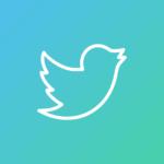 Kuvassa Twitterin logo, jossa linkki Amazing Keski-Suomen Twitter-tilille.