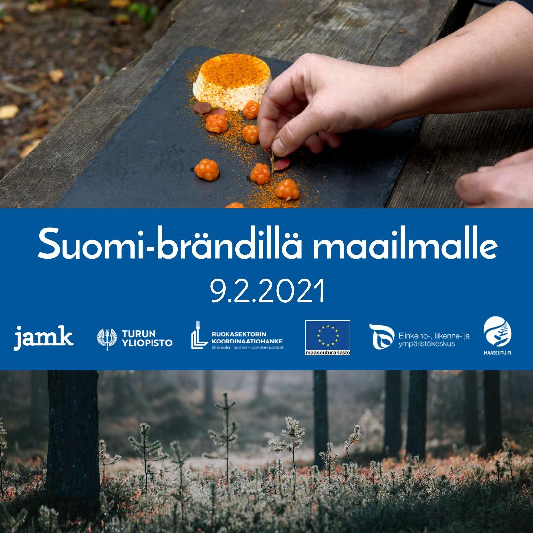 Suomi- brändillä maailmalle -webinaari 9.2.2021
