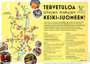 Keski-Suomen ruokakartta -esite, osa 1