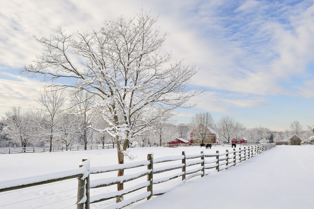 Talvinen maatila